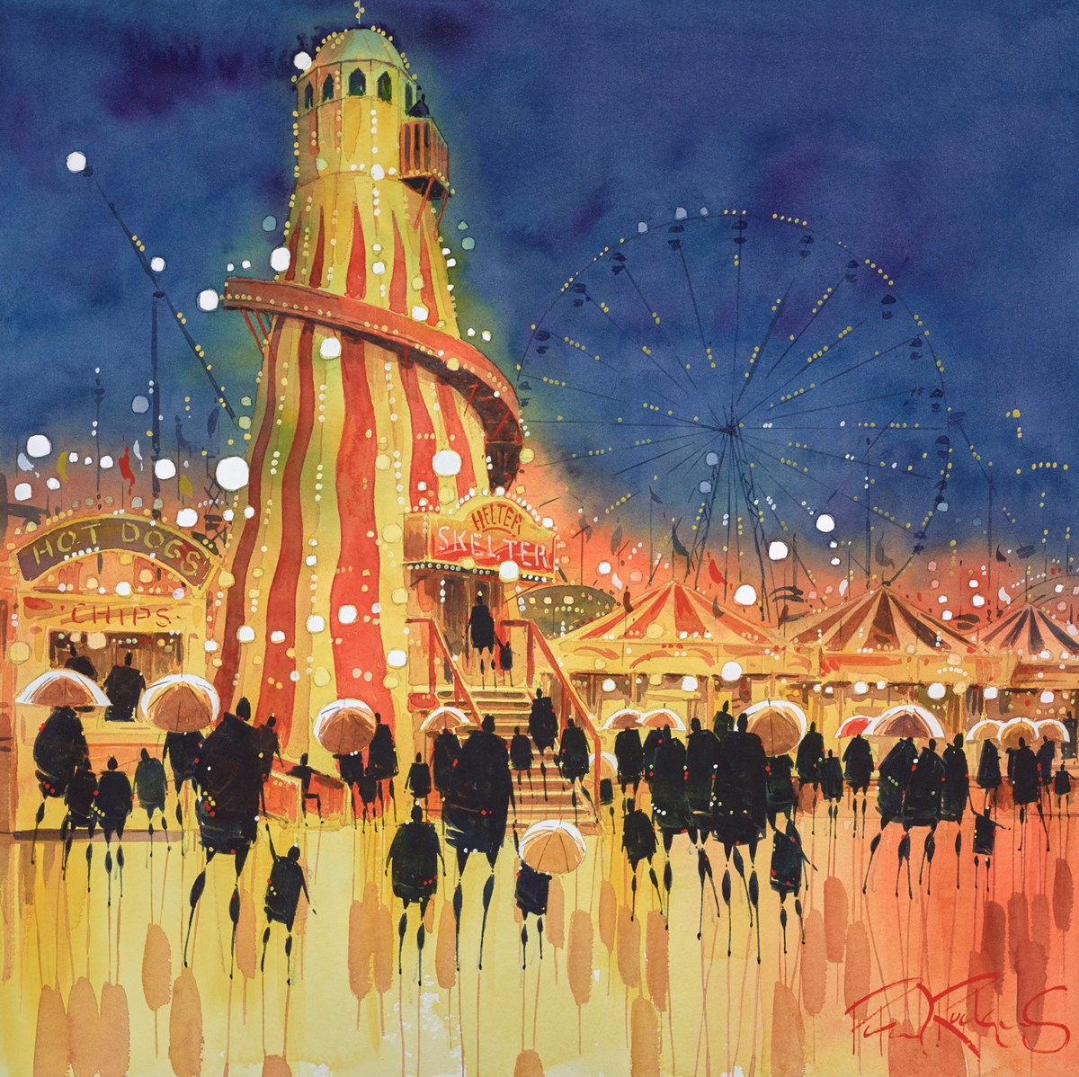 Helter Skelter by peter j rodgers -  sized 16x16 inches. Available from Whitewall Galleries